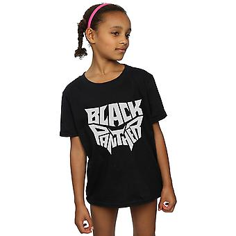 Marvel Girls Black Panther Worded Emblem T-Shirt