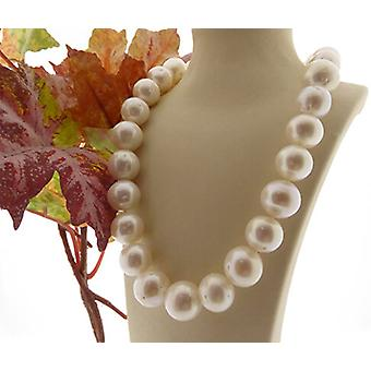 Christian white freshwater pearl necklace