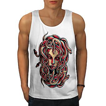 Medusa rainha cobra homens WhiteTank Top | Wellcoda