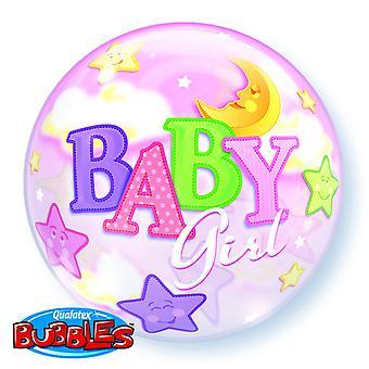 QUALATEX 22 pouces seul bébé garçon/fille lune & étoiles Design Bubble ballon