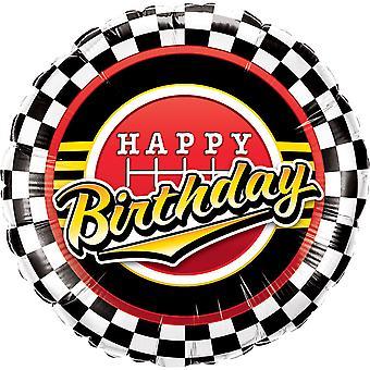 Balão da folha de aniversário feliz aniversário fórmula uma corrida de carros de cerca de 45 cm