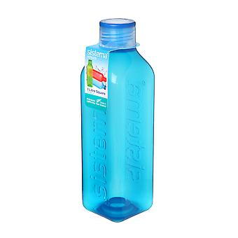 Sistema Hydrate 1L Square Drink Bottle, Blue