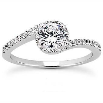 5 / 8ct diamant förlovningsring 14K vitguld