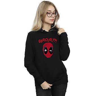 Marvel kobiet Deadpool poważnie Bluza z kapturem