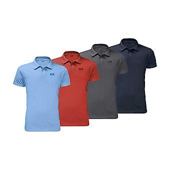 Jack Wolfskin Mens Pique Polo T-Shirt