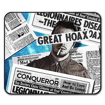 Newspaper Retro Vintage  Non-Slip Mouse Mat Pad 24cm x 20cm | Wellcoda