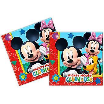 Servietten Napkins Mickey Mickeyparty Kindergeburtstag 33x33cm 20 Stück