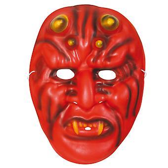 Horror masker duivel demon helft rode zachte Halloween masker