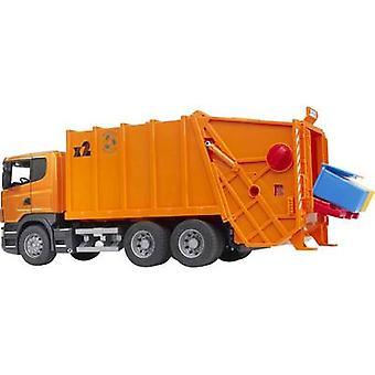 Brother Scania R-series garbage truck orange