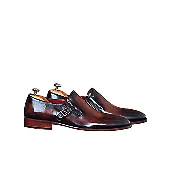Handcrafted Premium Leather Paulo B Monk Shoe