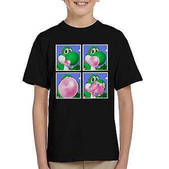 Yoshi Bubblegum Super Mario Kid's T-Shirt