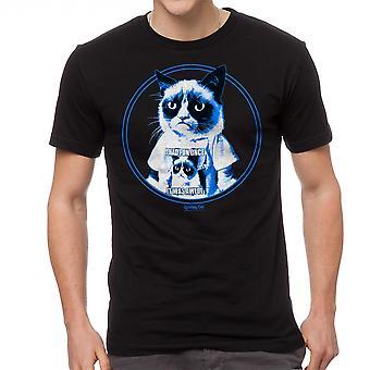 Grumpy Cat chagrijnig In Shirt mannen zwart grappig T-shirt