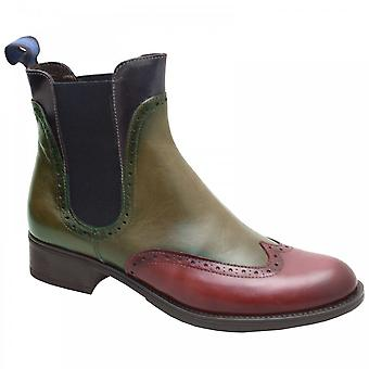 Luis Gonzalo 3 Colour Leather Chelsea Ankle Boot