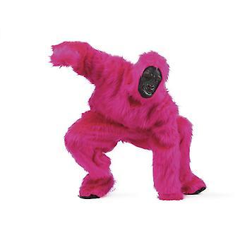 rosa Gorialla Herren Kostüm Menscheaffe Affe Herrenkostüm
