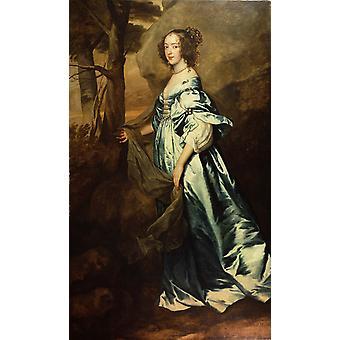 The Countess of clanbrassil,Anthony Van Dyck,60x40cm