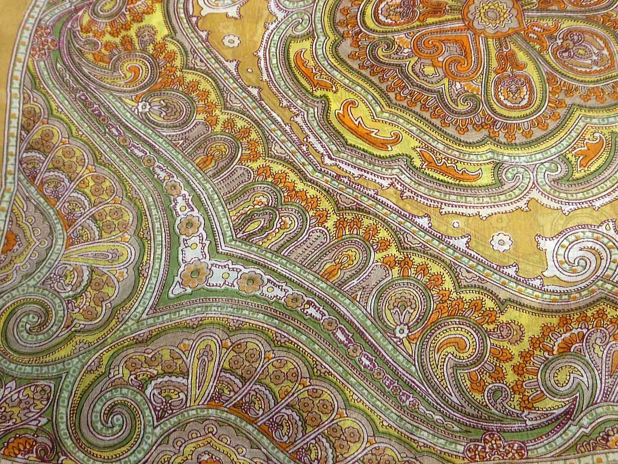 Mulberry Silk Traditional Square Scarf Jaya Gold by Pashmina & Silk