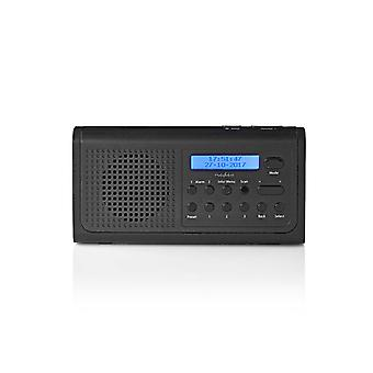Nedis RDDB1500BK Dab+-radio 3 W Fm Klok- En Alarmfunctie Zwart