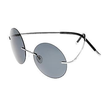 Förenkla kristna polariserade solglasögon - Silver/svart