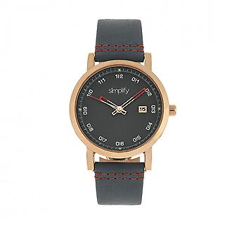 Simplify The 5300 Strap Watch - Rose Gold/Blue