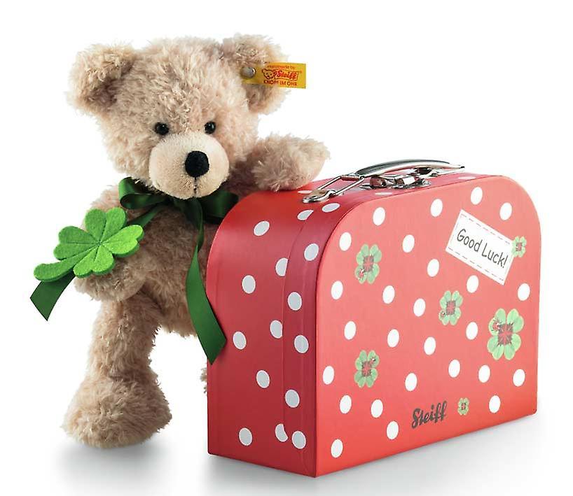 Christer Steiff Teddy bear with suitcase 24 cm
