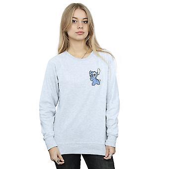 Disney kvinnors Lilo och Stitch Stitch baksidan bröst Print tröja
