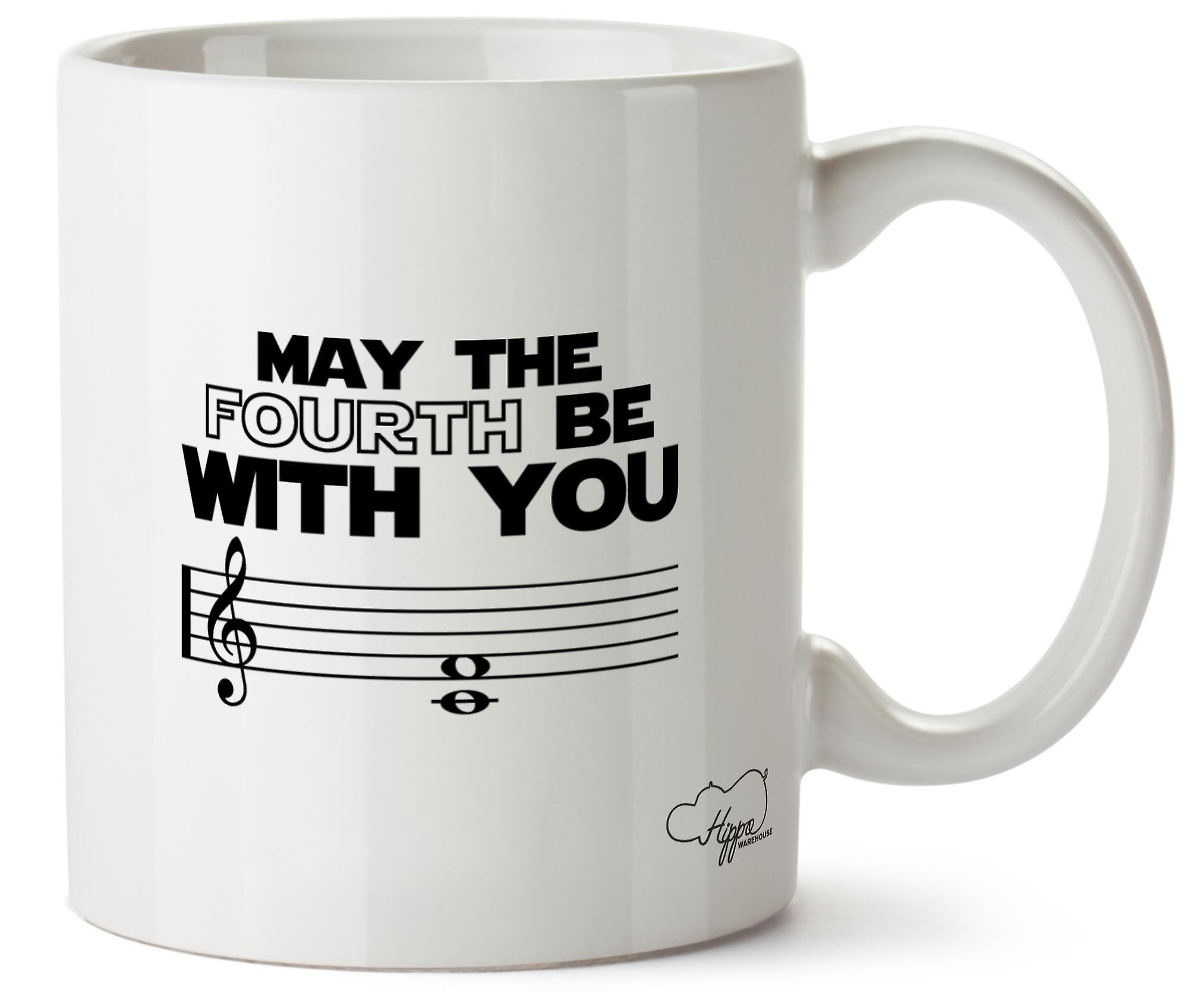Hippowarehouse May The Fourth Be With You Printed Mug Cup Ceramic 10oz