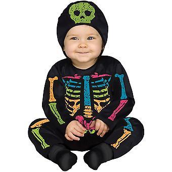 Little Bright Skeleton Toddler Costume