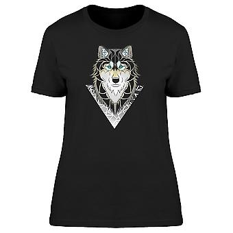 Wolf Going Out Of A Triangle Tee Men's -Image by Shutterstock