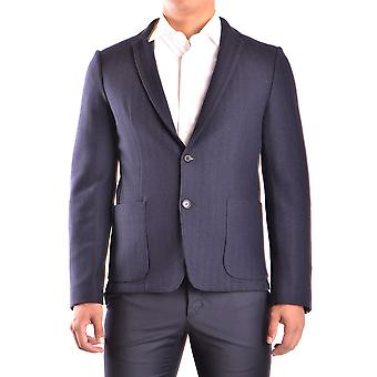 Kostuum Nationale Ezbc066028 Men's Blue Wool Blazer