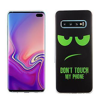 S10 de Samsung Galaxy plus rey tienda móvil de la cubierta protectora funda parachoques no toques mi teléfono verde