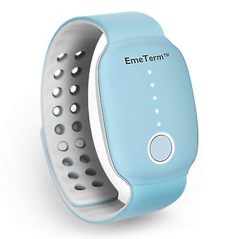 EmeTerm Antiemetic Electrode Stimulator Sickness & Nausea Relief Rechargeable No Gel Drug Free Wrist Band Blue