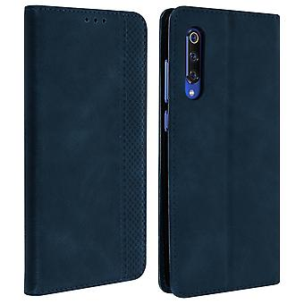 Xiaomi Mi 9 Case Aged Effect Card Holder Stand Support - Dark Blue