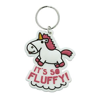 Despicable Me It's So Fluffy Unicorn Rubber Keyring