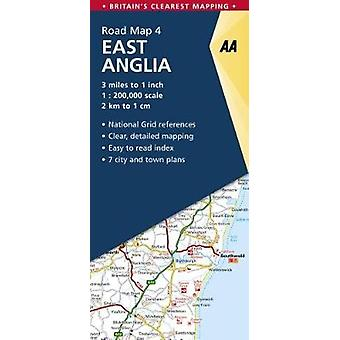 East Anglia Road mapa por AA Publishing-9780749578923 Book