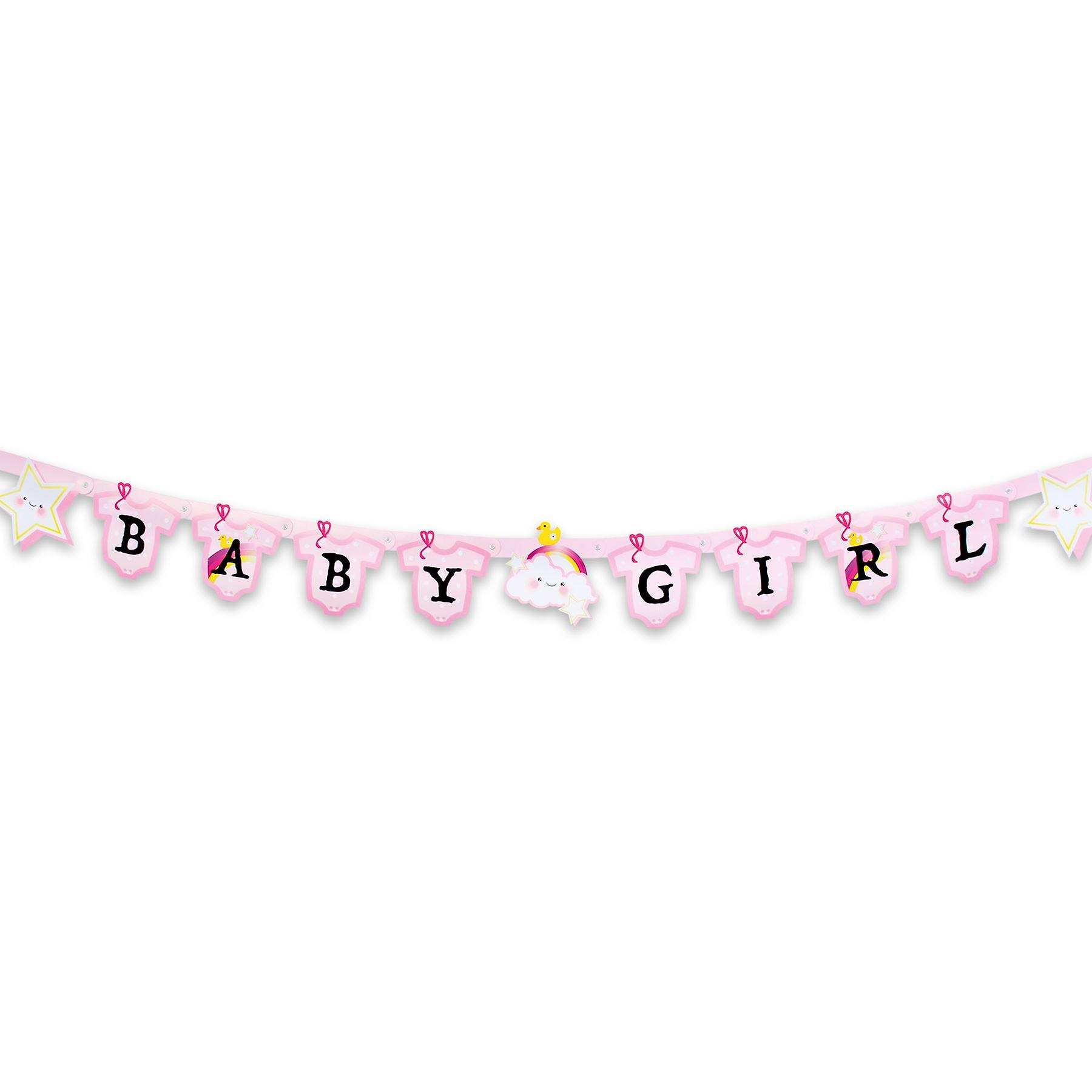 Baby Girl Banner 170cm Long New Birth Bunting