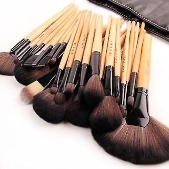 24 kpl ammattimainen bambu meikki harjat tapa uksessa