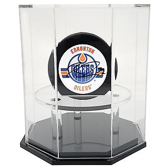 OnDisplay Deluxe con protezione UV Puck display case-base Octagon nero