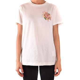 Moncler Ezbc014077 Women's White Cotton T-shirt