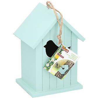 Bird House Wood make colore naturale elegante 14.5 x12x22