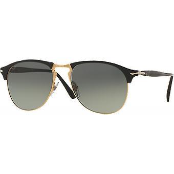 Persol 8649S Medium Black/Gold gray gradient