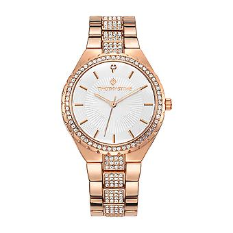 Timothy Stone Women's GALA Rose Gold and White Watch