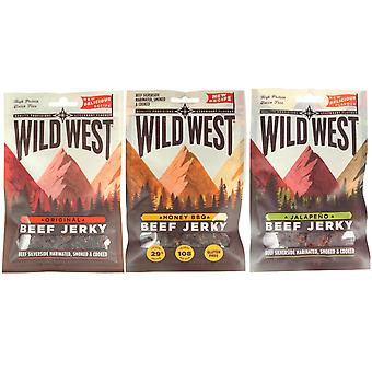 Wild West Mixed Flavour Beef Jerky 35G X 12