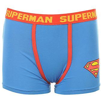 Superman Kids Infants Thick Elasticated Waistband Underwear Boxer Shorts Blue