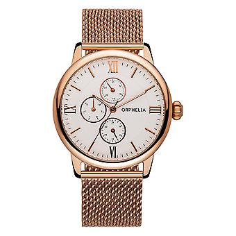 ORPHELIA Mens Multi Dial Watch Executive Rose Gold roestvrij staal 122-9707-17