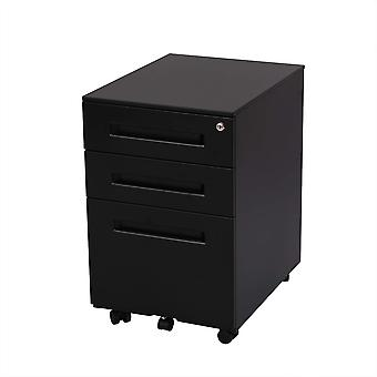 Flexispot File Cabinet Underdesk Mobile Pedestal Lockable Container 3-Drawer Cb31W