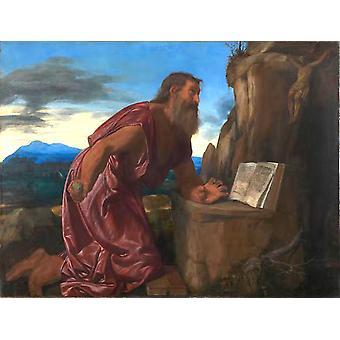 Saint Jerome,Giovanni Girolamo Savoldo,50x38cm