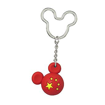 Key Chain - Disney - Mickey Flag Icon Ball Key Ring - China New 85718