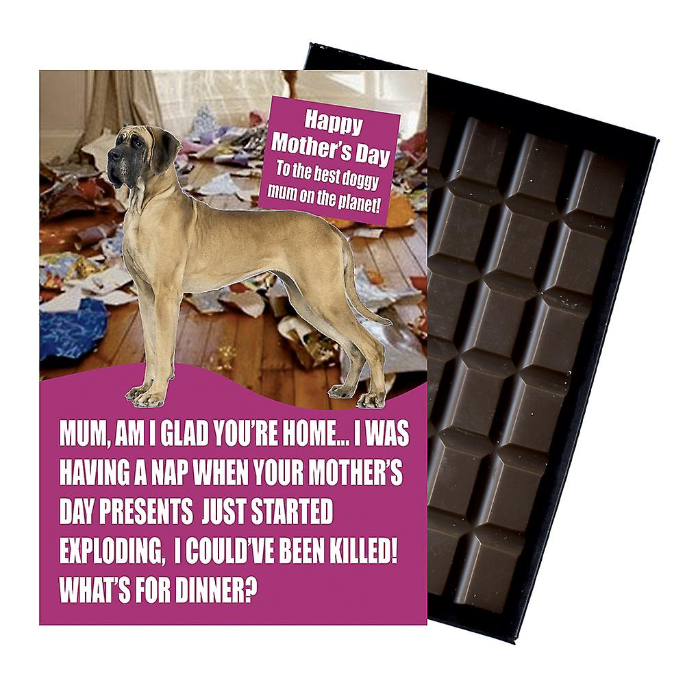 Great Dane Owner Dog Lover  Mother's Day Gift Chocolate Present For Mum Novelty