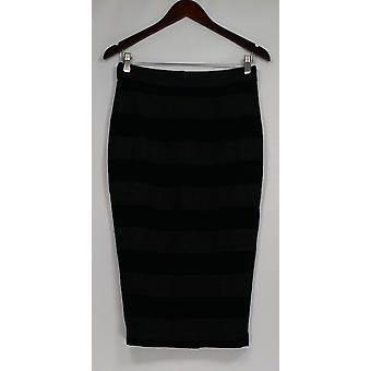G.I.L.I. got it love it Skirt Stretch Striped Pencil Dark Gray A268271