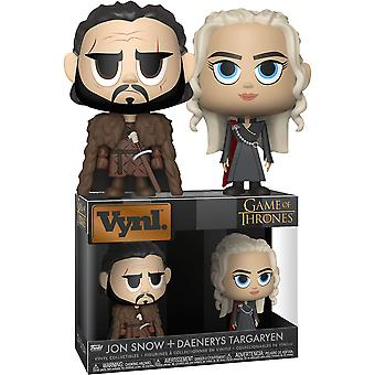 Game of Thrones Jon Snow & Daenerys Targaryen Vynl.